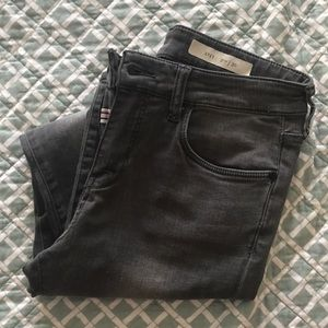 pilcro and the letterpress washed black jeans